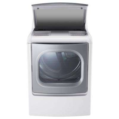 9.0 cu. ft. Electric Dryer with EasyLoad and Steam in White