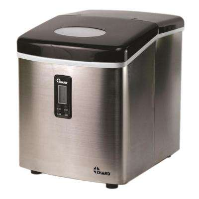 35 lb. Freestanding Ice Maker in Stainless Steel