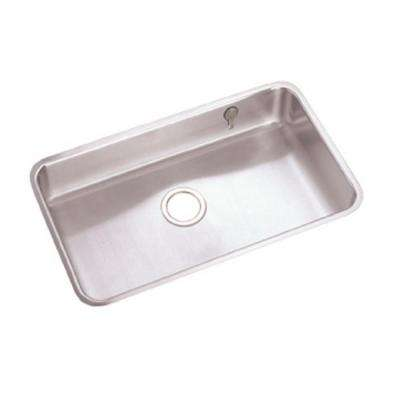 Lustertone Undermount Stainless Steel 31 in. Single Basin Kitchen Sink with Accessories