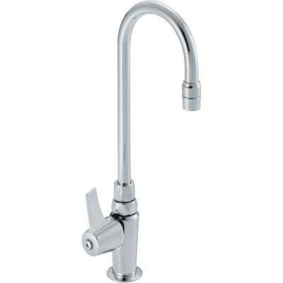 Commercial Single Hole 1-Handle High Arc Laundry Sink Faucet in Chrome-DISCONTINUED
