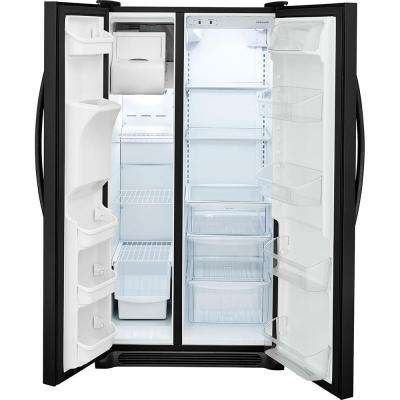 25.5 cu. ft. Side by Side Refrigerator in Black