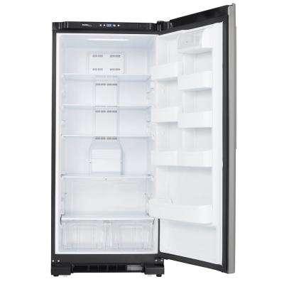 30 in. W 17.0 cu. ft. Freezerless Refrigerator in Black with Stainless Steel Door