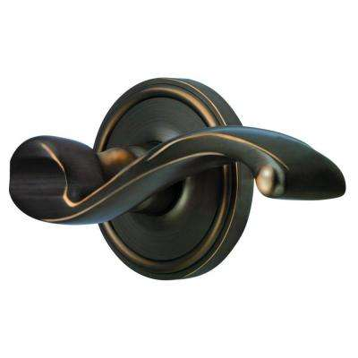 Georgetown Rosette Timeless Bronze with Privacy Right Handed Portofino Lever