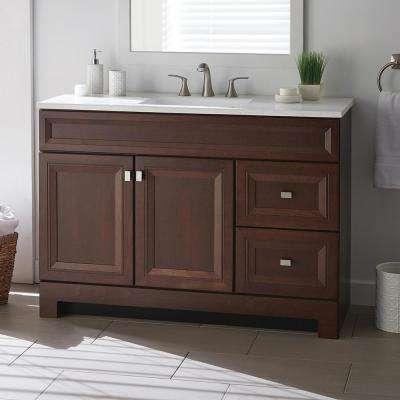 Strange Dark Brown Bathroom Vanities Bath The Home Depot Download Free Architecture Designs Scobabritishbridgeorg