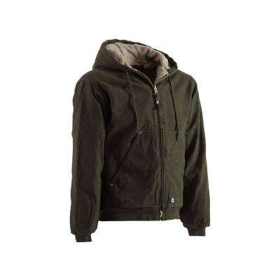 Men's Cotton High Country Sherpa Lined Hooded Jacket