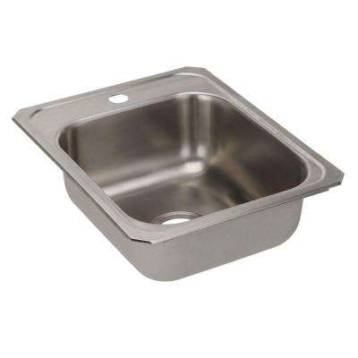 Celebrity Top Mount Stainless Steel 17 in. 1-Hole Single Bowl Kitchen Sink