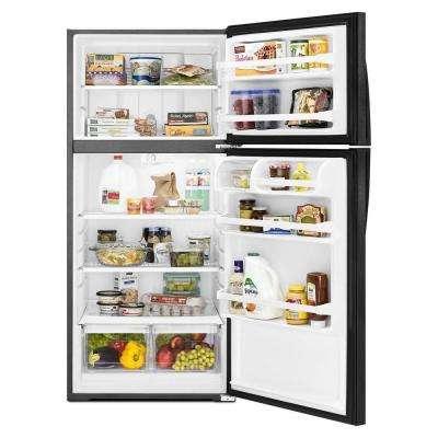 14 cu. ft. Top Freezer Refrigerator in Black