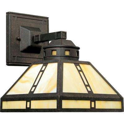 Arts and Crafts Collection 1-Light Weathered Bronze Wall Sconce