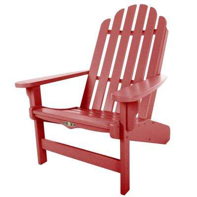 Durawood Essentials Adirondack Chair in Red