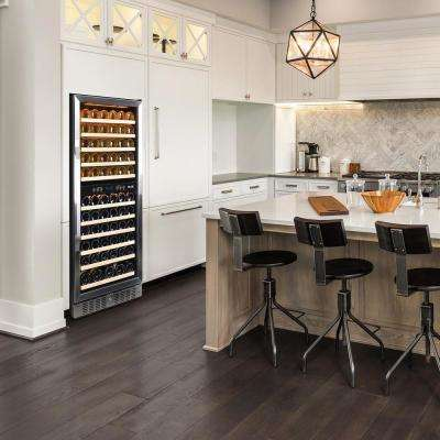 Dual Zone 116-Bottle Built-In Wine Cooler Fridge with Smooth Rolling Shelves and Quiet Operation - Stainless Steel