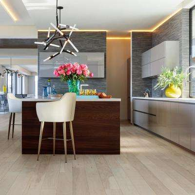 Hickory Granada 3/8 in. T x 6-1/2 in. Wide x Varying Length Engineered Click Hardwood Flooring (945.50 sq. ft. / pallet)