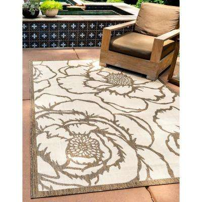 Outdoor Rose Beige 8' 0 x 11' 4 Area Rug