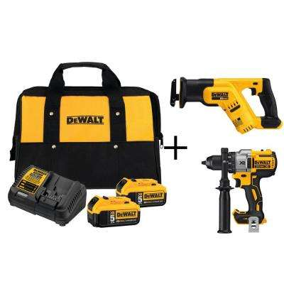 20-Volt MAX Lithium-Ion 5.0Ah Starter Kit with Bonus Premium Brushless Drill and Reciprocating Saw