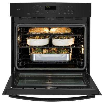Profile 30 in. Single Electric Wall Oven Self-Cleaning with Steam Plus Convection in Black