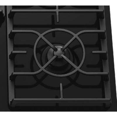 Architect Series II 36 in. Gas-on-Glass Gas Cooktop in Black with 5 Burners including 17000 BTU Professional Burner