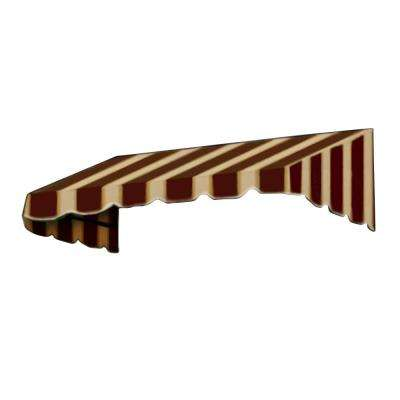 6 ft. San Francisco Window/Entry Awning (16 in. H x 30 in. D) in Brown/Tan Stripe