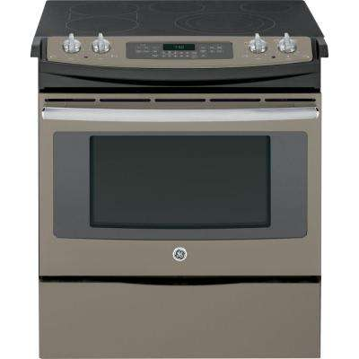 4.4 cu. ft. Slide-In Electric Range with Self-Cleaning Convection Oven in Slate