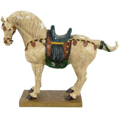 Oriental Furniture 16 in. Tang Dynasty Horse Decorative Statue