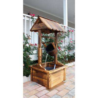Wooden Wishing Well Fountain