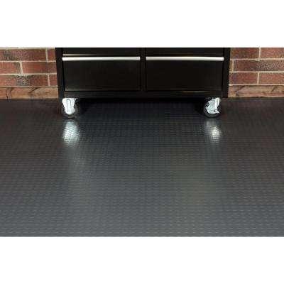 Coin 10 ft. Wide x Your Choice Length Grey Commercial Grade Vinyl Flooring