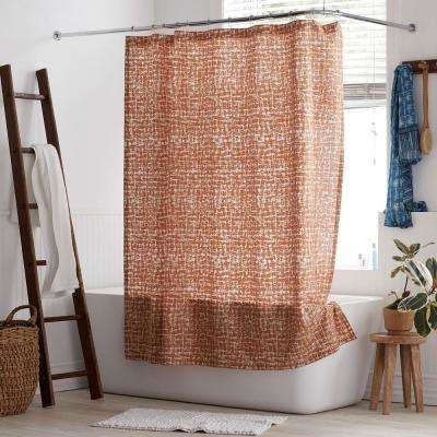 Brexton 72 in. Cotton Percale Shower Curtain