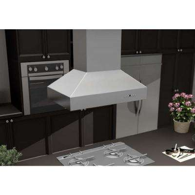 ZLINE 36 in. 1200 CFM Remote Dual Blower Island Mount Range Hood in Stainless Steel