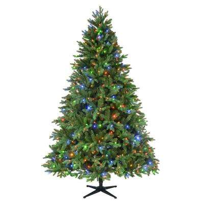 7.5 ft. Pre-Lit LED Harrison Fir Artificial Christmas Tree with 550 Color Changing Lights