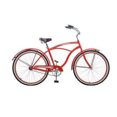26 in. Men's Vintage Cruiser in Red