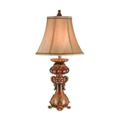 31 in. Antique Brass Table Lamp
