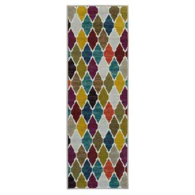 Authentic Collection Contemporary Trellis Design Multi 2 ft. 3 in. x 6 ft. Runner