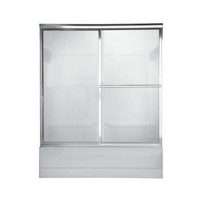 Prestige 60 in. x 58.5 in. Framed Sliding Shower Door in Silver
