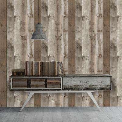 Weathered Repurposed Wood Wallpaper