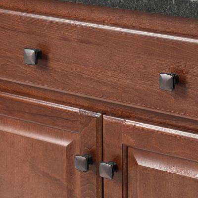 1-1/4 in. Oil Rubbed Bronze Square Cabinet Knob (25-Pack)