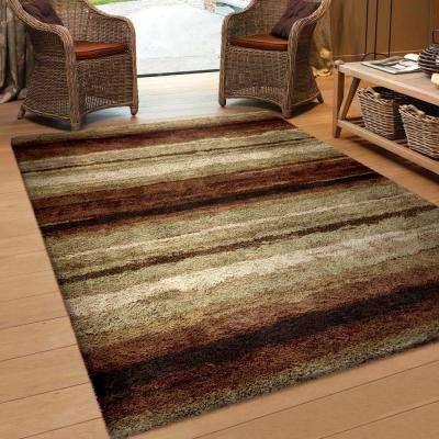 Rural Road Red 5 ft. x 8 ft. Indoor Area Rug