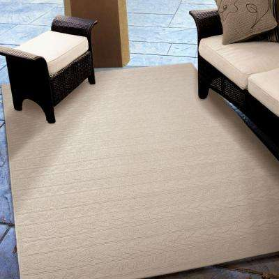 Twisted Sand Ivory 8 ft. x 11 ft. Indoor/Outdoor Area Rug