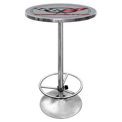 Corvette C5 Silver Pub Table