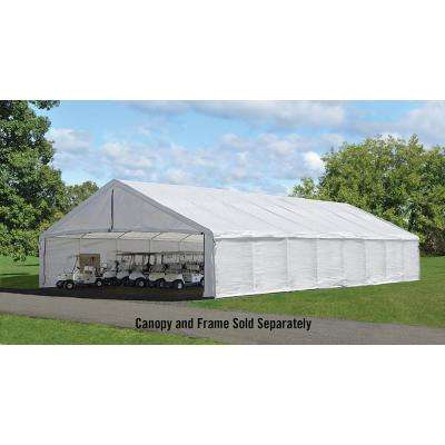 30 ft. W x 50 ft. D Canopy Enclosure Kit in White Frame and Canopy Sold Separately