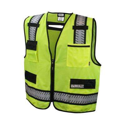 Large High Visibility Green Class 2 Standard Surveyor Vest