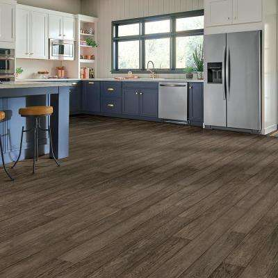 Hydropel Hickory Taupe 7/16 in. T x 5 in. W x Varying Length Waterproof Engineered Hardwood Flooring (22.6 sq.ft.)