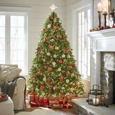 7-1/2 ft. Feel-Real Jersey Fraser Fir Hinged Artificial Christmas Tree with 1250 Clear Lights
