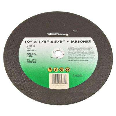 10 in. x 1/8 in. x 5/8 in. Masonry Type 1 C20R-BF Chop Saw Blade