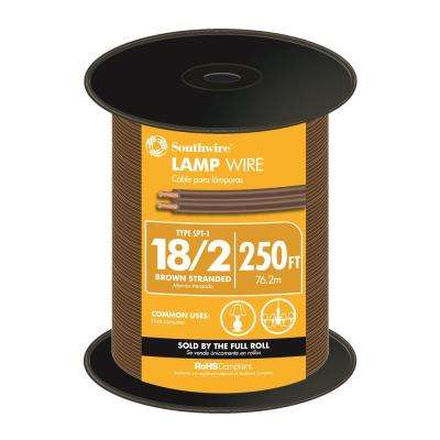 250 ft. 18/2 Brown Stranded Lamp Wire