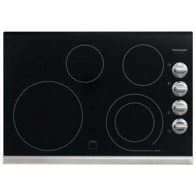 30 in. Smooth Electric Cooktop in Stainless Steel with 4 Elements