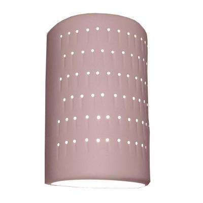 Lucy 2-Light Bisque Terra Cotta Ceramic Outdoor Wall Sconce