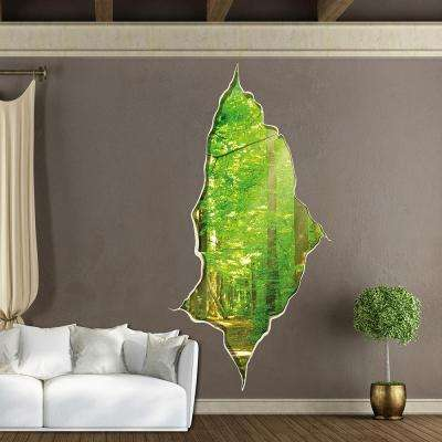 110.2 in. x 39.4 in. Break in the Woods Wall Decal