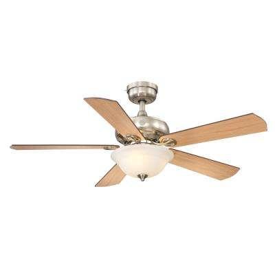 Selena 52 in. LED Indoor Brushed Nickel Ceiling Fan