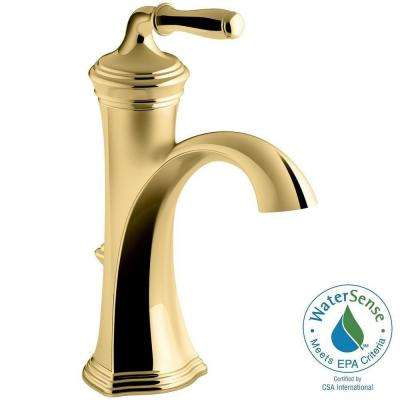 Devonshire Single Hole Single Handle Water-Saving Bathroom Faucet in Vibrant Polished Brass
