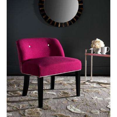 Bell Berry/White Vanity Chair
