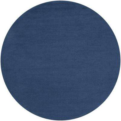 Falmouth Cobalt 9 ft. 9 in. x 9 ft. 9 in. Round Indoor Area Rug