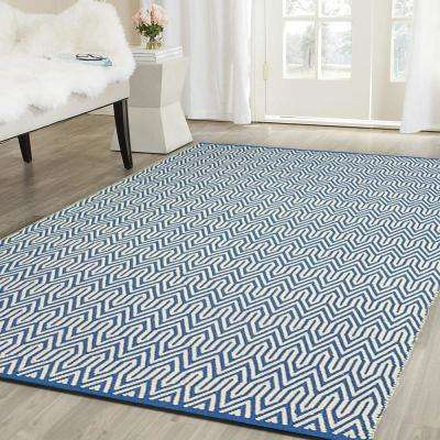 Inside-Out Blue 8 ft. x 10 ft. Indoor/Outdoor Area Rug